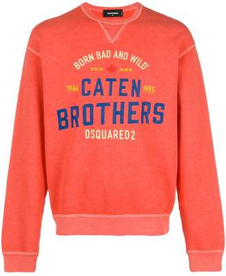 DSQUARED2 Caten Brothers print sweatshirt