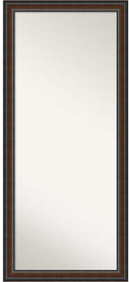 Amanti Art Cyprus Wood 29x65 Floor-Leaner Mirror