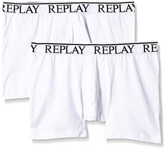 Replay Men's M606001 Pack 2 Retro NOOS Boxer Shorts,Medium