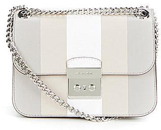 MICHAEL Michael Kors Sloan Editor Striped Cross-Body Bag $368 thestylecure.com