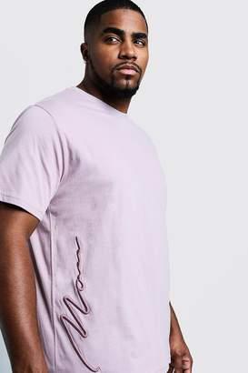 boohoo Big & Tall 3D MAN Signature T-Shirt