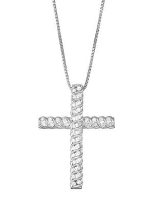 1/2 Carat T.W. Diamond Cross Pendant