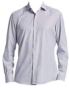 Ermenegildo Zegna Men's Plaid Button-Down Shirt