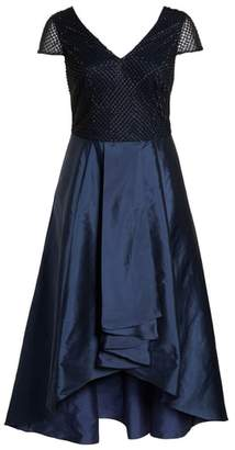 Adrianna Papell Bead Embellished High/Low Gown