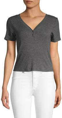 Project Social T Ribbed Short-Sleeve Henley