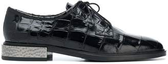 Alberto Gozzi metal heel lace-up shoes