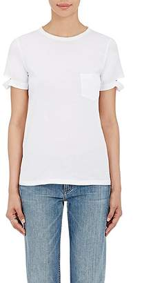 Helmut Lang Women's Distressed-Cuff Cotton T-Shirt