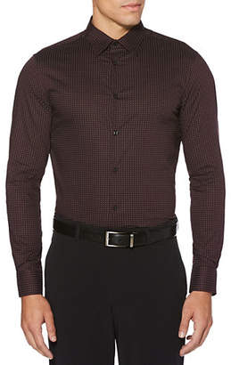 Perry Ellis Mini Dot-Print Dress Shirt