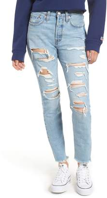 Levi's 501(R) Ripped High Waist Skinny Jeans