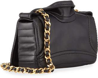 Moschino Leather Biker-Jacket Shoulder Bag