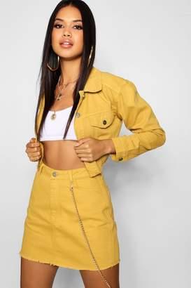 boohoo Mustard Denim Jacket
