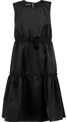 Rochas Tiered Bow-Embellished Satin Dress