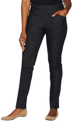 Denim & Co. Tall Perfect Denim Smooth Waist Straight Leg Jeans