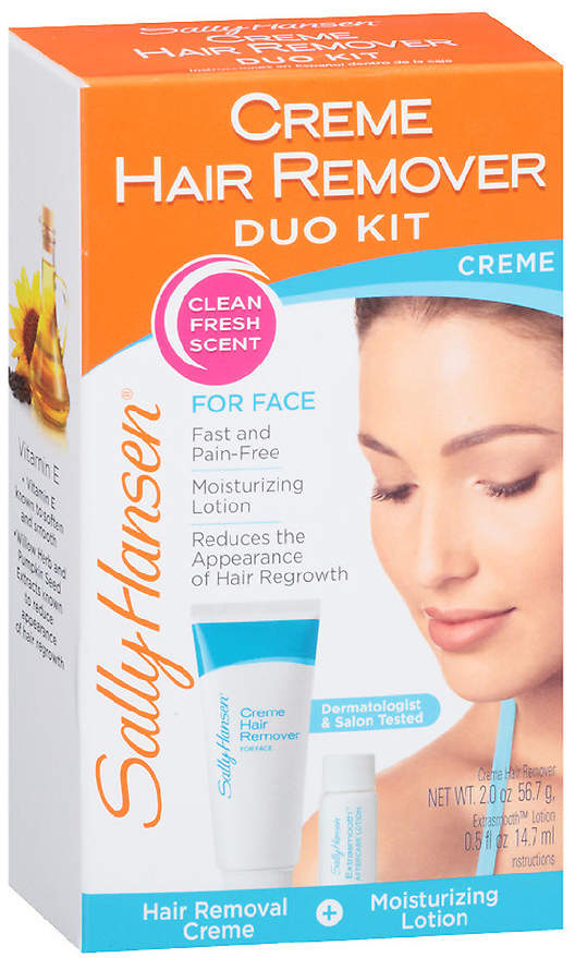 Sally Hansen Creme Hair Remover Kit For Face, Upper Lip & Chin