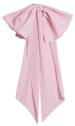 Cotton Belt Dovima Paris - Romy Bow Embellished Gingham Womens - Pink White