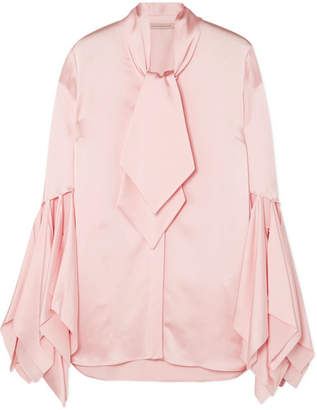 Christopher Kane Pussy-bow Satin Blouse - Pink