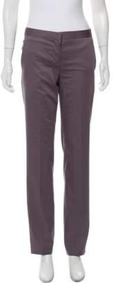 Alberta Ferretti Mid-Rise Straight Pants w/ Tags Grey Mid-Rise Straight Pants w/ Tags