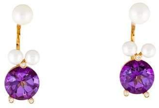 Delfina Delettrez 18K Multistone Magic Puppy Drop Earrings