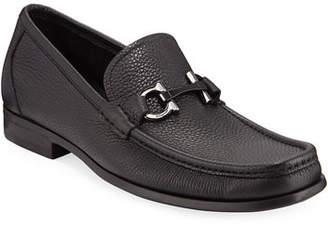 6924f7101f29 Salvatore Ferragamo Men s Grained Calf Leather Bit Loafer