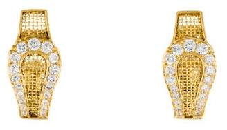 18K Woven Diamond Earrings