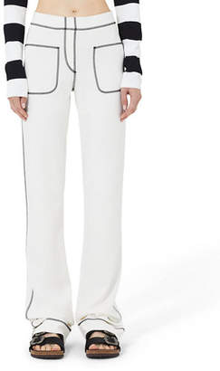 Marc Jacobs Topstitched Patch Pocket Jersey Pants