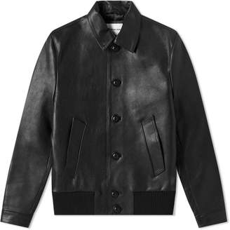 Mki MKI Leather Button Down Rider Jacket