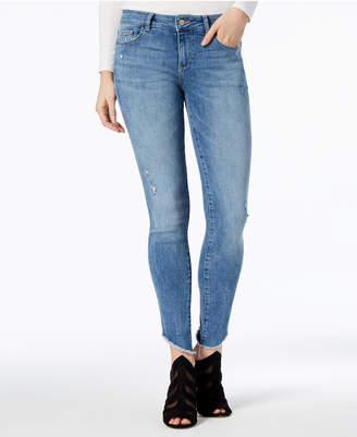 DL1961 Florence Mid Rise Instascuplt Skinny Frayed-Hem Jeans