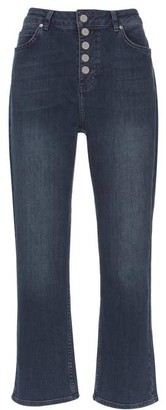 Mint Velvet Nevada Indigo Button Fly Jeans