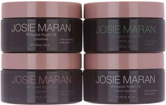 Josie Maran Set of 4 Whipped Argan Body Butters, 4 oz