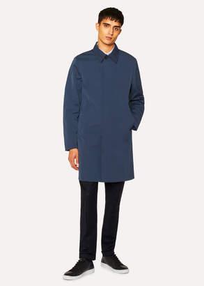 Paul Smith Men's Petrol Cotton-Blend Unlined Mac