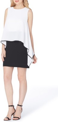 Women's Tahari Chiffon Popover Sheath Dress $128 thestylecure.com