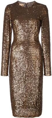 Michael Kors sequinned midi dress
