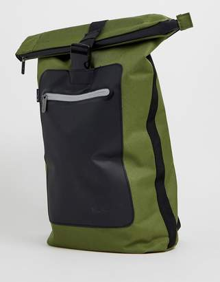 Ben Sherman roll top backpack in khaki