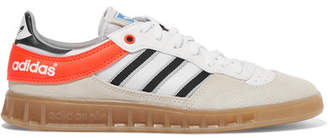 adidas Handball Top Suede, Leather And Mesh Sneakers - Beige