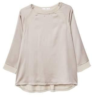 MANGO Flowy panel t-shirt