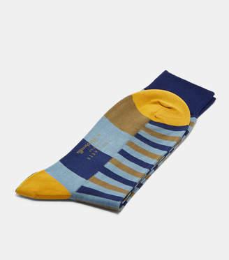 Ted Baker WALU Striped block cotton socks