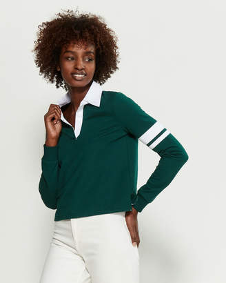 Almost Famous Rugby Armband Long Sleeve Polo
