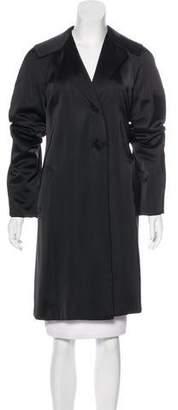 Alberta Ferretti Knee-Length Satin Coat