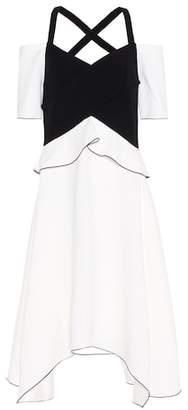 Proenza Schouler Cold-shoulder crêpe dress