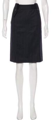 Saint Laurent Pleated Knee-Length Skirt w/ Tags