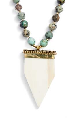 Love's Affect Phoenix Semiprecious Stone Statement Necklace