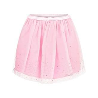 Miss Blumarine Miss BlumarinePink Tulle Skirt With Diamantes