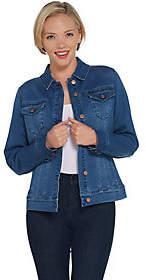 Martha Stewart Denim Button Front Jean Jacket