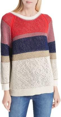 BA&SH Hera Colorblock V-Back Sweater