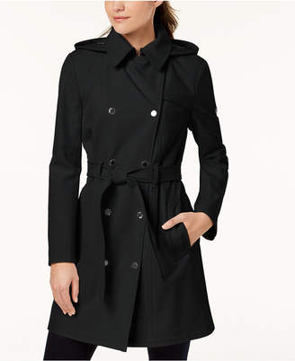 Calvin Klein Hooded Belted Trench Coat