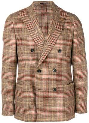 Lardini checked print jacket