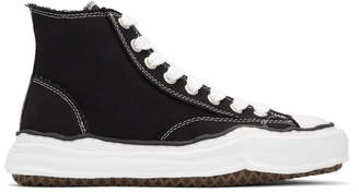 Miharayasuhiro Black Original Sole Canvas Hi-Cut Sneakers