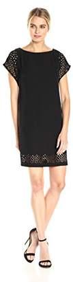 Calvin Klein Women's Laser Cut Short Sleeve Sheath Dress