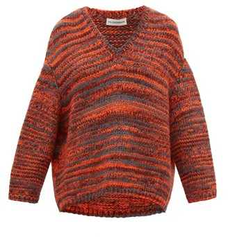 Vika Gazinskaya Dropped Sleeve Melange Sweater - Womens - Red Multi