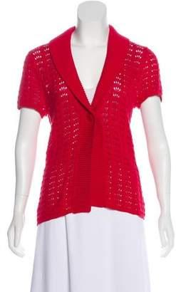 Magaschoni Knit Short Sleeve Cardigan